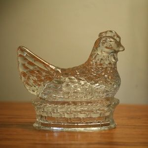 Other - Vintage Glass Chicken